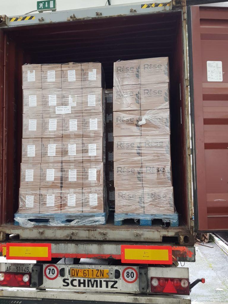 Partenza container Zimbabwe